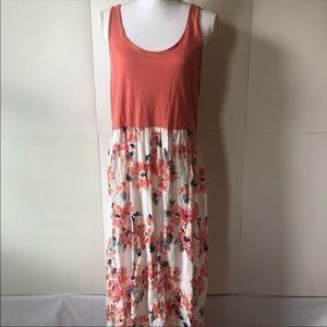 Mudd maxi dress peach sleeveless tank XL